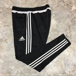 ❤️adidas black with white striped running pants